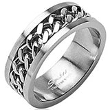Spikes 316L Stainless Steel Chain Ring