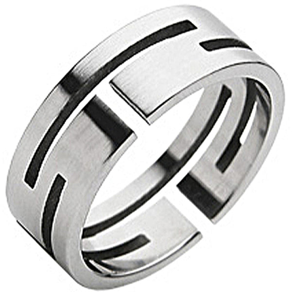 SPIKES 316L Stainless Steel Maze Ring