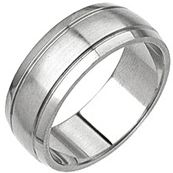 Spikes 316L Surgical Grade Lined Stainless Steel Ring