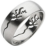 SPIKES 316L Stainless Steel Lizard Carve Ring
