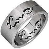 SPIKES 316L Stainless Steel Love Ring