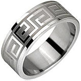 SPIKES 316L Stainless Steel Maze Pattern Ring