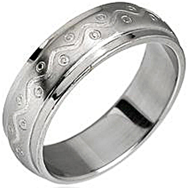 SPIKES316L Stainless Steel Waves Ring