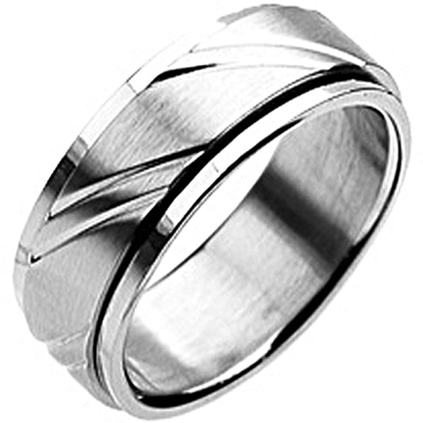 SPIKES 316L Stainless Steel Spinning Ring