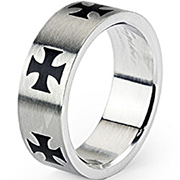 SPIKES 316L Stainless Steel Celtic Cross Ring