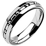 SPIKES 316L Stainless Steel Missing Link Ring