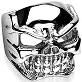 SPIKES 316L Stainless Steel Original Sin Skull Ring