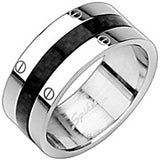 SPIKES 316L Stainless Steel Solstice Carbon Fiber Ring