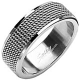 SPIKES 316L Stainless Steel Love Armor Screen Ring