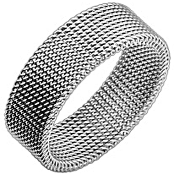 SPIKES 316L Stainless Steel Silver Screen Ring