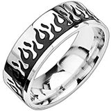 Stainless Steel Two Tone Light My Fire Ring