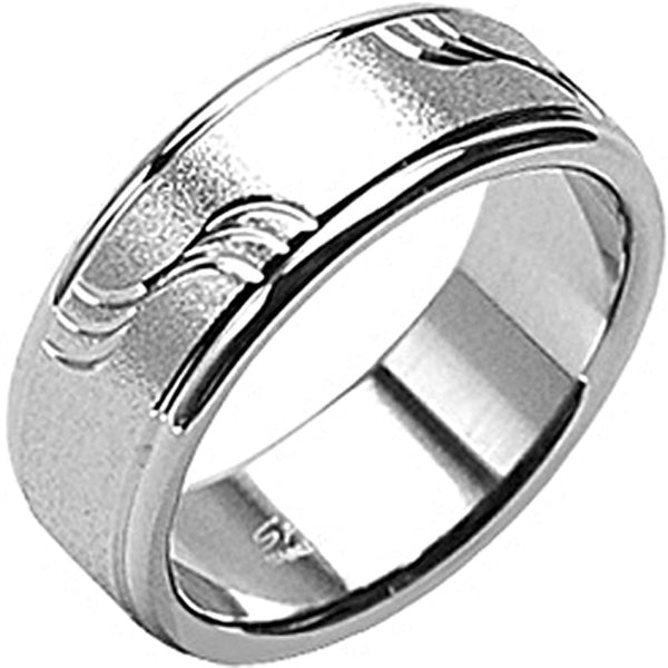 SPIKES 316L Stainless Steel Drift Away with Me Ring