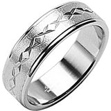 SPIKES 316L Stainless Steel X Marks The Spot Ring