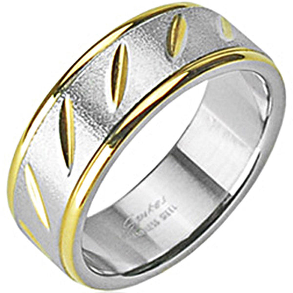 SPIKES 316L Stainless Steel IP Gold Goldirocks Ring