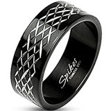 SPIKES 316L Stainless Steel Eternity XXX Etched Ring