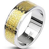 SPIKES 316L Stainless Steel Gold IP Lounge Lizard WOMEN'S Ring
