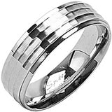 Spikes 316L Stainless Steel Ring Around Ring