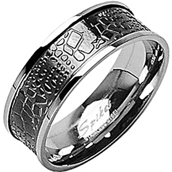 SPIKES 316L Stainless Steel Crocodile Rock Ring