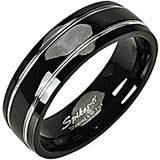 SPIKES Titanium Stripe Two My Lou MEN'S Ring