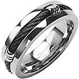SPIKES Titanium Round'em Up Ring