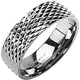 SPIKES Titanium Slither Snake MEN'S Ring