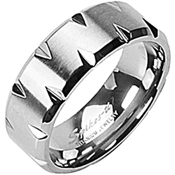 SPIKES Titanium Living on the Edge WOMEN'S Ring
