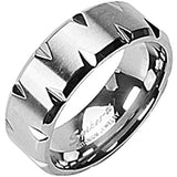 SPIKES Titanium Living on the Edge MEN'S Ring