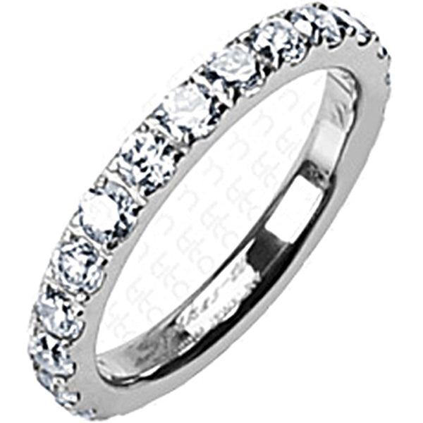 SPIKES Titanium Mood for Love CZ Eternity WOMEN'S Ring