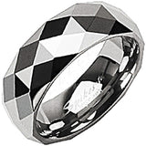 SPIKES Tungsten Carbide Multi-Faceted Prism Ring