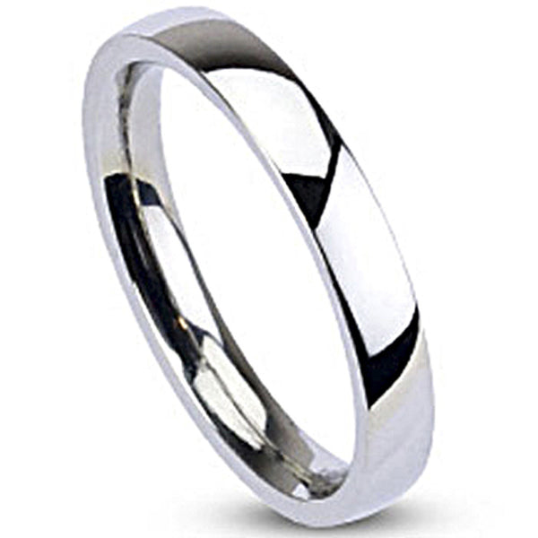 Spikes Womens Stainless Steel 3mm Traditional Wedding Band Ring