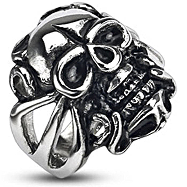 Spikes Stainless Steel Evil Skull Rider Biker Ring