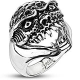 Spikes Mens 23mm Oni Demon Wide Cast Ring