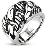 Spikes Mens 15mm Eternal Link Wide Cast Ring