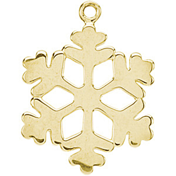 14kt Yellow Gold Tiny Snowflake Charm