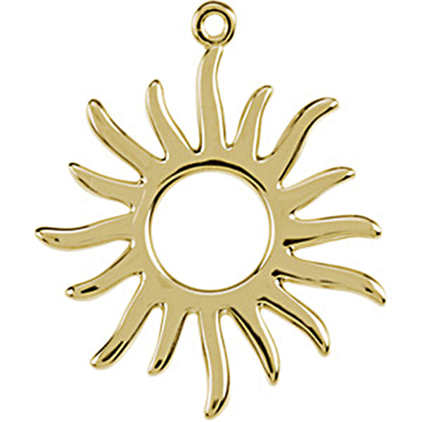 14K Yellow Gold Tiny Sun Charm