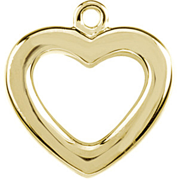 14K Yellow Gold Tiny Heart Charm