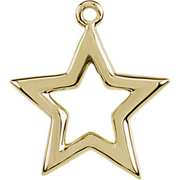 14K Yellow Gold Tiny Star Charm