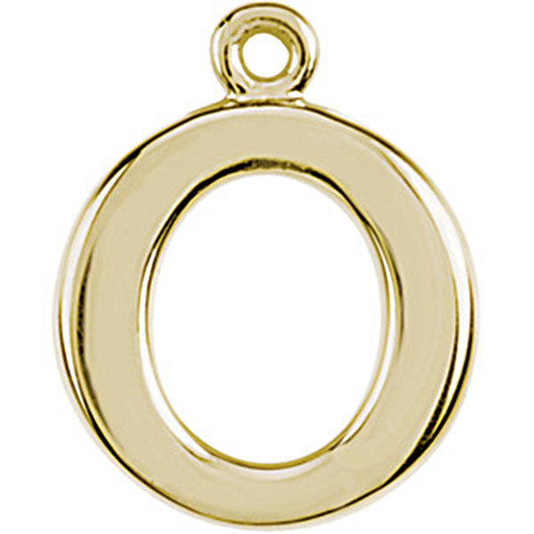 14K Yellow Gold Tiny Circle Charm