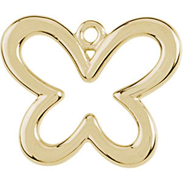 14K Yellow Gold Tiny Butterfly Charm