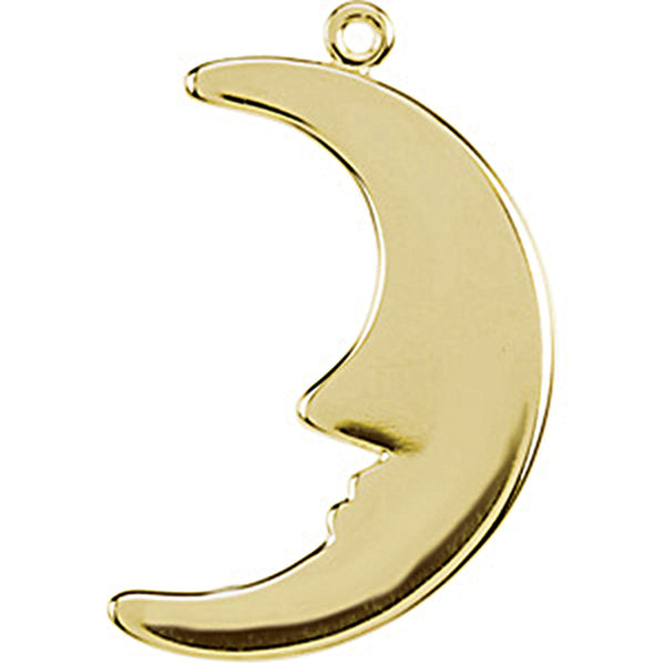 14K Yellow Gold Tiny Half Moon Charm