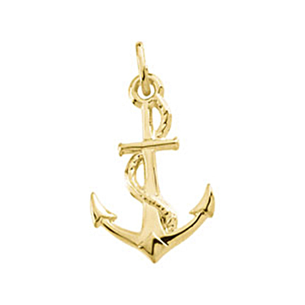14kt yellow gold anchor charm bodycandy 14kt yellow gold anchor charm aloadofball