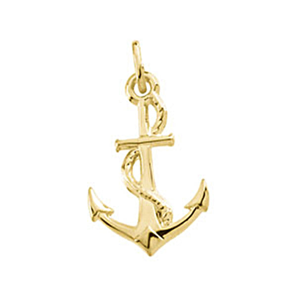 14kt Yellow Gold Anchor Charm
