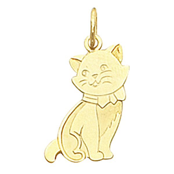 14kt Yellow Gold Cat Charm