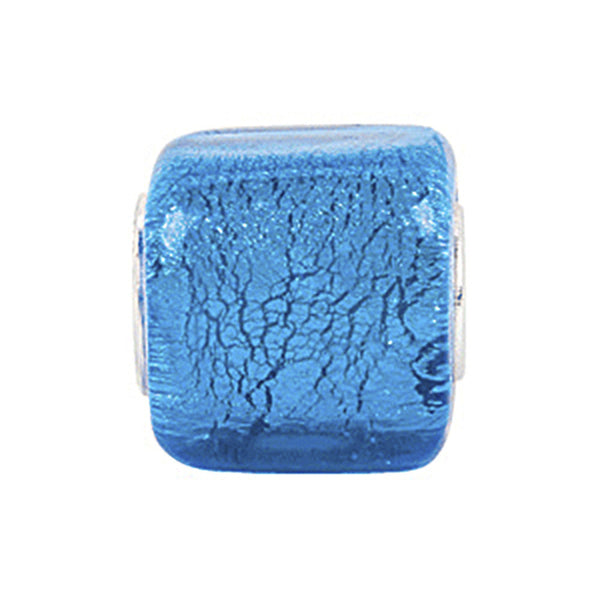Kera Turquoise Square Glass Bead