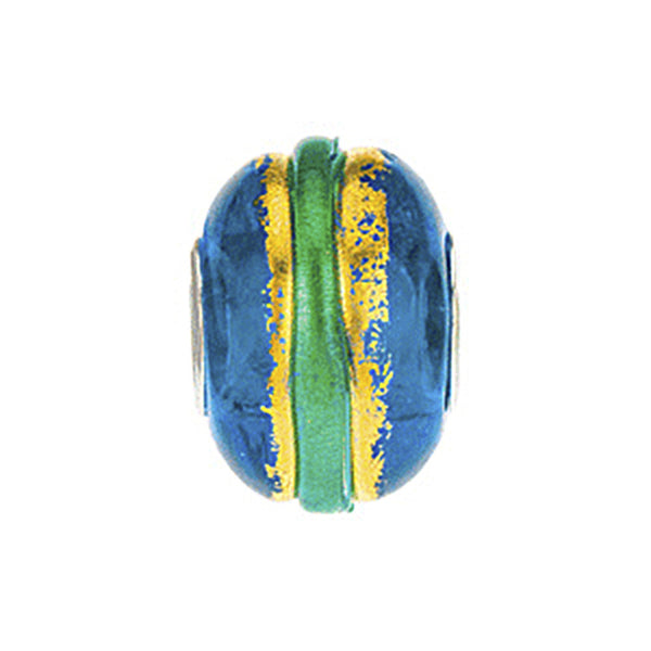 Kera Gold Aqua Murano Glass Bead