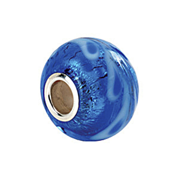 Kera Silver Blue Murano Glass Bead