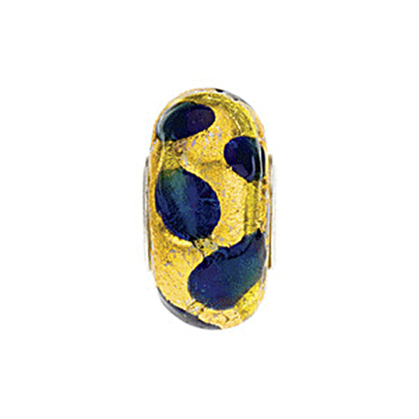 Kera Gold Green Blue Murano Glass Bead