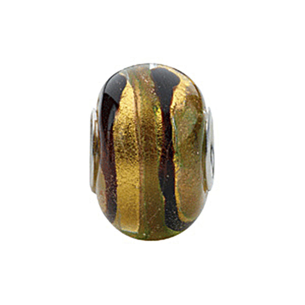 Kera Gold Brown Murano Glass Bead
