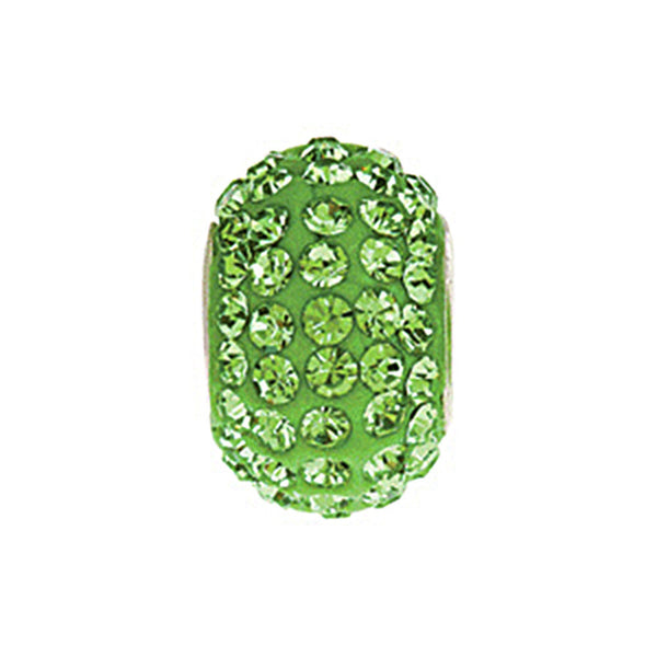 Kera Roundel Bead with Pave Peridot Crystals