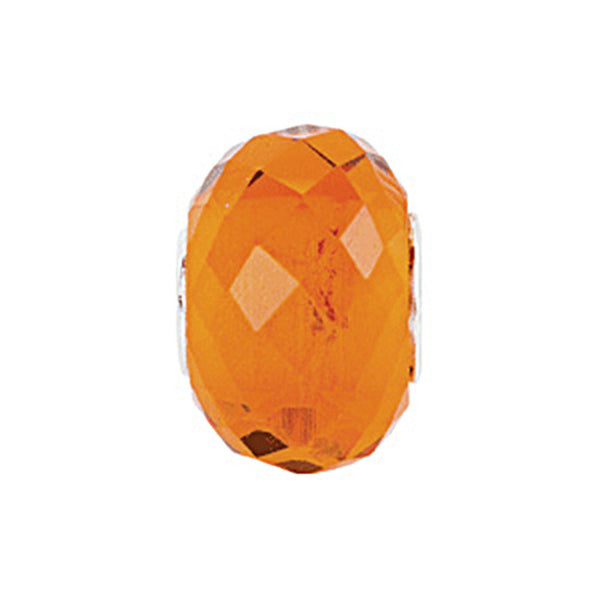 Kera Orange Faceted Glass Bead